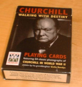 churchill playing cards