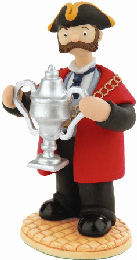 mayor with tidy uo trumpton cup
